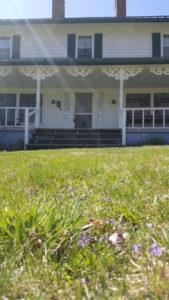 springtime banner house